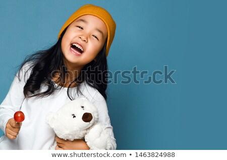 baby · cherub · mały · harfa · nieba · niebo - zdjęcia stock © indiwarm