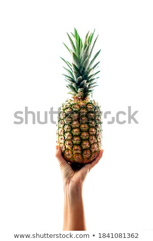 Woman with whole pineapple Stock photo © photography33