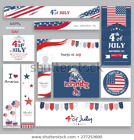 4th July – Independence day of United States of America. Poste Stock photo © leonido