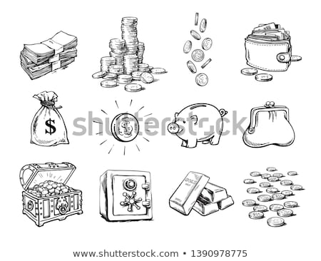 gold bar and dollar in hands Stock photo © pterwort