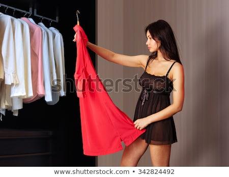 Bela mulher vestir belo mulher jovem sem mangas mulheres Foto stock © piedmontphoto