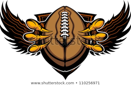 eagle football talons and claws vector illustration stock photo © chromaco