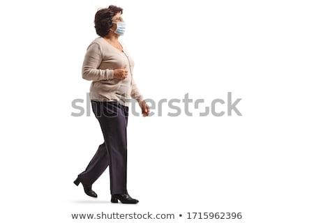 épidémie supérieurs femme isolé vue Photo stock © lisafx