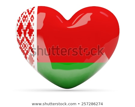 Image of heart with flag of Belarus Stock photo © perysty