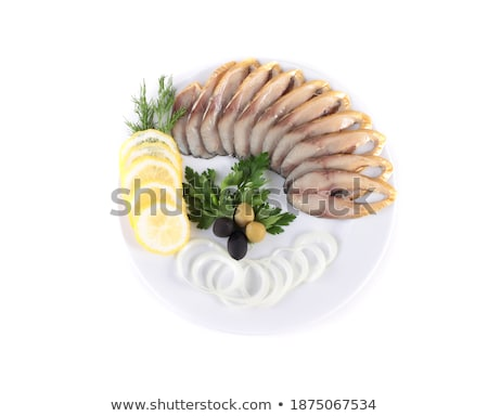 fish with vegetablesanion olives stock photo © shutswis