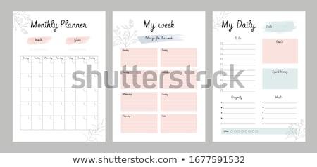 Tervező memo menetrend közelkép lövés Stock fotó © devon