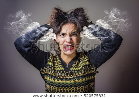 Stock photo: Frustrated woman screaming