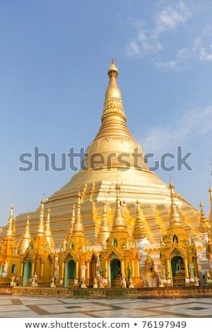 pagode · pôr · do · sol · Mianmar · edifício · noite · nascer · do · sol - foto stock © szefei