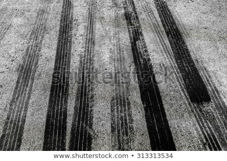 Closeup of a tire trace on a road Stock photo © pinkblue
