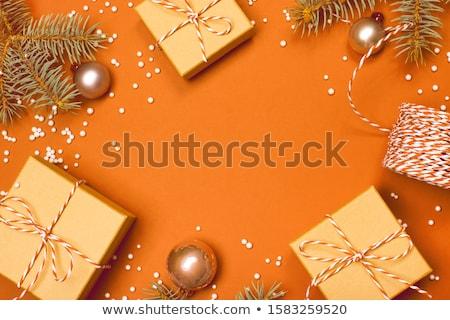 naranja · Navidad · decoraciones · rama · colgante · pino - foto stock © mobi68