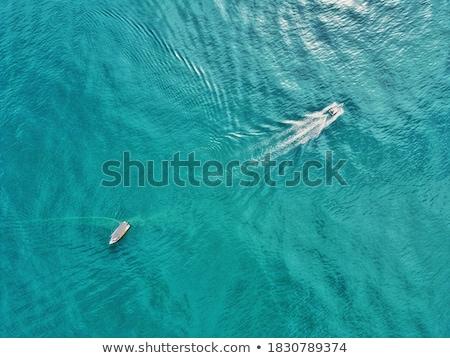 dois · barcos · pequeno · porto · céu · paisagem - foto stock © Alenmax