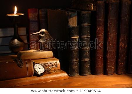 Ancora vita vecchio biblioteca uve mele scienza Foto d'archivio © tepic