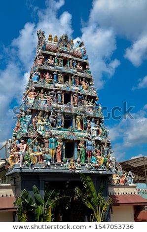Sculptuur Indië muur ontwerp steen kleur Stockfoto © Mikko