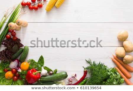 Border Fresh Vegetables Stock photo © adamson