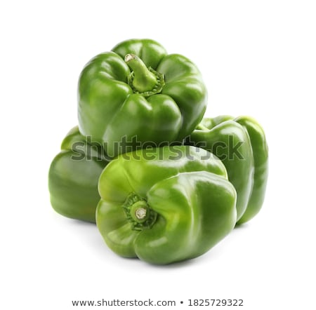 fresh green bell pepper isolated on white Stock photo © tarczas
