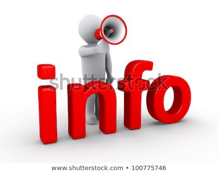 3d · pessoas · megafone · palavra · informações · branco · abstrato - foto stock © Quka
