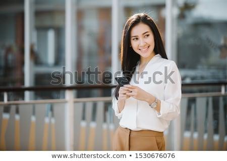 Portré fiatal vállalkozó telefon férfi technológia Stock fotó © photography33