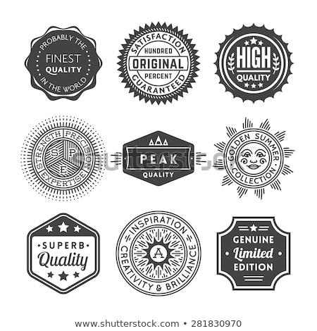 logo plaque Stock photo © butenkow