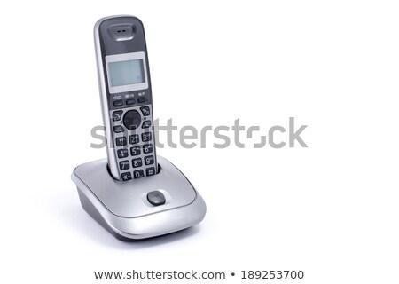 white Home Phone Isolated stock photo © shutswis