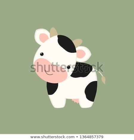 Vache jouet soft isolé chemin blanche Photo stock © Vectorex