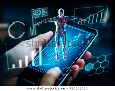 Azul digital corpo coração diagrama Foto stock © wavebreak_media