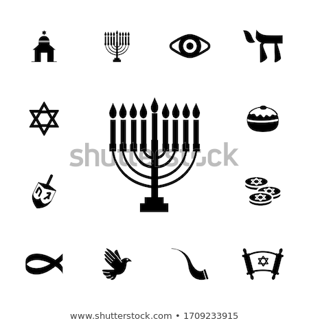 Jodendom leven spelen vlam achtergronden godsdienst Stockfoto © shawlinmohd