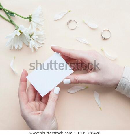 Bruid witte bloemen detail witte Stockfoto © KMWPhotography