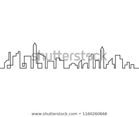 city skyline silhouette icon stock photo © 5xinc