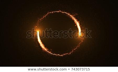 Ardente elettrica arancione abstract scienza pattern Foto d'archivio © ArenaCreative