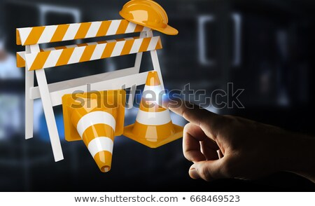 protection roadsign business concept stock photo © tashatuvango