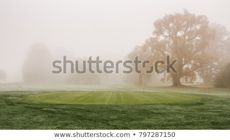 Foto stock: Invierno · manana · campo · de · golf · vacío · Praga · golf