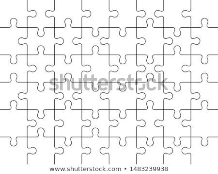 moderne · puzzel · sjabloon · eps · 10 · papier - stockfoto © helenstock