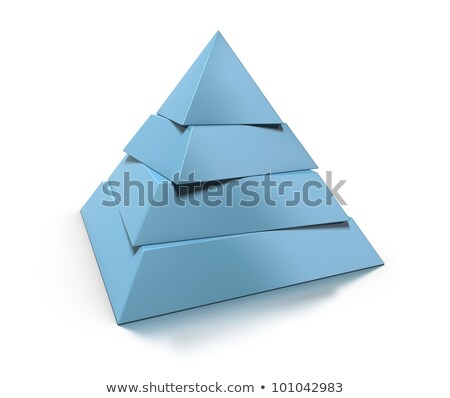 blank pyramid 4 levels stack Stock photo © make