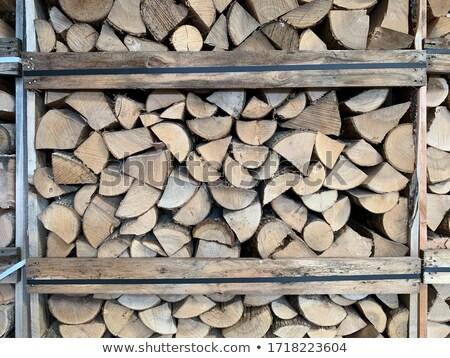 drogen · gehakt · brandhout · klaar · winter · boom - stockfoto © mayboro