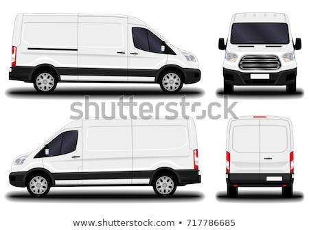 biały · ciało · van · nie · koła · samochodu - zdjęcia stock © cla78