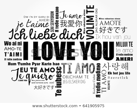 Love word cloud illustration Stock photo © photosoup