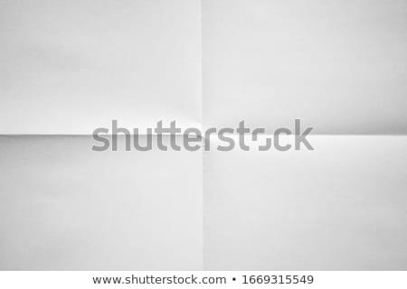 Blank sheet of paper folded in four Stock photo © dvarg
