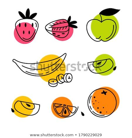 hámozott · alma · asztal · bioélelmiszer · fa · természet - stock fotó © cosma
