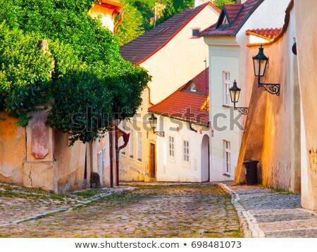 Kicsi keskeny utca óváros Prága Csehország Stock fotó © artush
