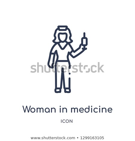 Logo belleza medicina alternativa damas mujer moda Foto stock © shawlinmohd