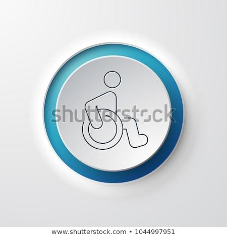 Hospital círculo iconos blanco ordenador médico Foto stock © tkacchuk