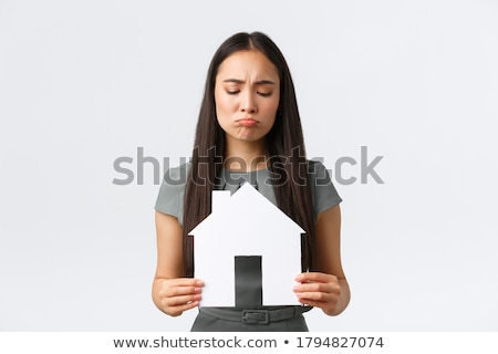Stock photo: businesswoman - can't look