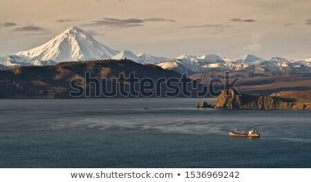 火山 空 春 風景 雪 山 ストックフォト © amok