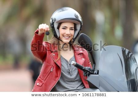 Alugar motocicleta ilustração móvel dispositivo Foto stock © unkreatives