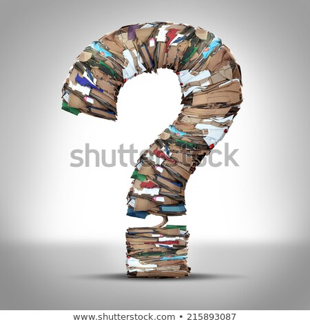 Recycle Cardboard Paper Question Stock photo © Lightsource