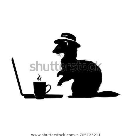 Stockfoto: Cute · vector · ingesteld · vintage · stijl · business