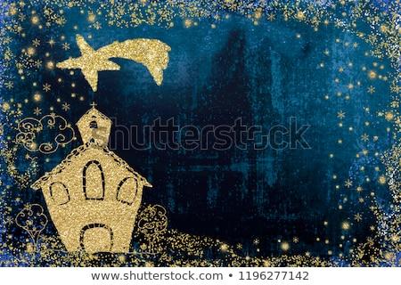 Christmas Card photo frame star of Bethlehem Stock photo © marimorena
