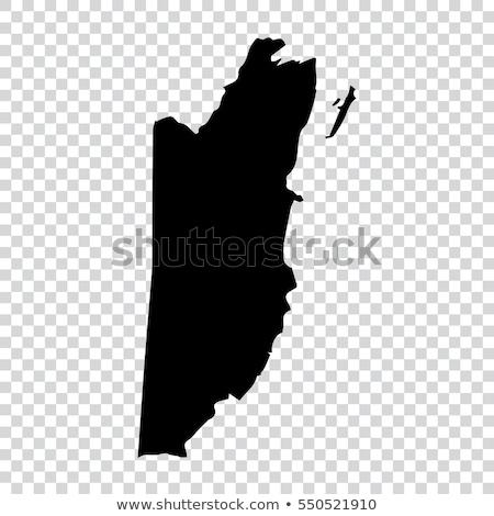 Sziluett térkép Belize felirat fehér felirat Stock fotó © mayboro