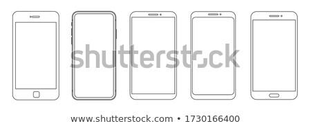 modern mockup device with infographics sketch set stock photo © davidarts