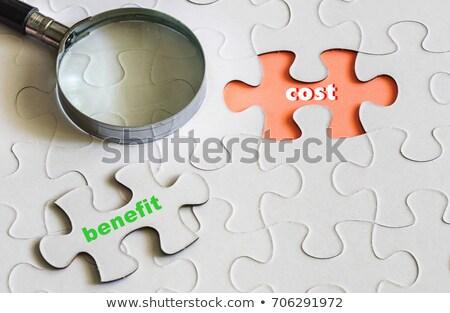 Benefit on Green Puzzle. Stock photo © tashatuvango